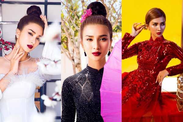 Kim Tuyến khoe nhan sắc trong 4 mẫu áo dài cách tân