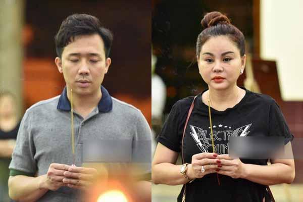 Trấn Thành nén khóc, Lê Giang lặng người trong đám tang nghệ sĩ Lê Bình