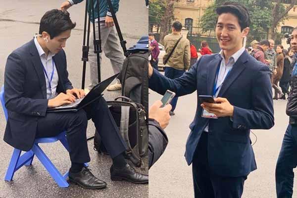 """Phóng viên Hàn Quốc đẹp trai gây """"bão"""" cộng đồng mạng"""