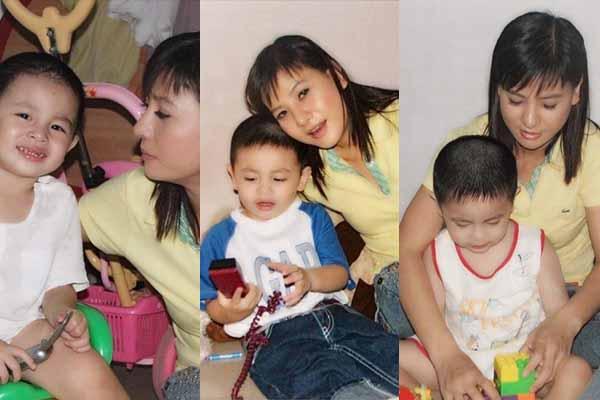 Ảnh hiếm hoi con trai Cát Phượng - Thái Hòa thời 9 tháng tuổi