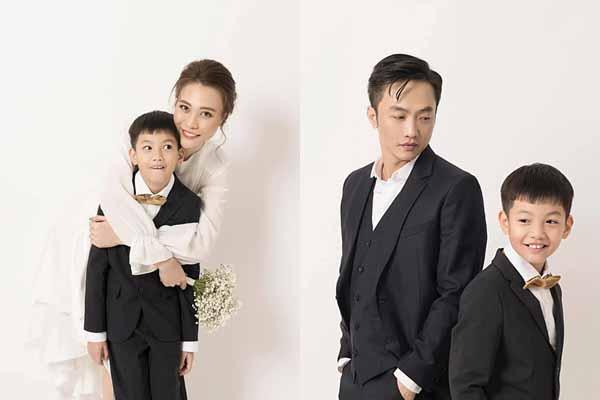 Con trai Hà Hồ chụp ảnh chung với Đàm Thu Trang, Cường Đôla