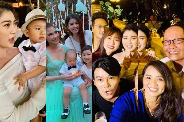 Thôi nôi con trai Thúy Diễm - Lương Thế Thành: Rừng sao đổ bộ không kém đám cưới bố mẹ