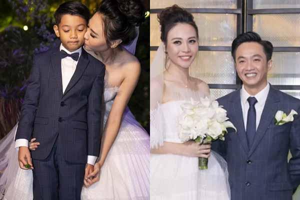 Hot nhất: Cường Đôla bảnh bao xuất hiện, Đàm Thu Trang tình cảm hôn má Subeo