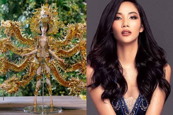 """""""Vùng đất chín rồng"""" vào top 3 quốc phục cho Hoàng Thùy thi Miss Universe 2019"""