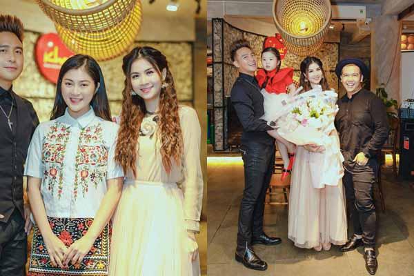 Thanh Trúc giản dị, Minh Châu đưa cháu gái đến chúc mừng Kha Ly