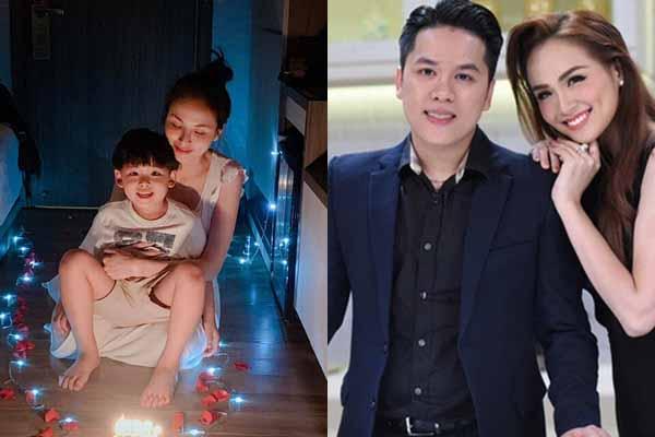 Phủ nhận ly hôn nhưng Diễm Hương đón sinh nhật không chồng kề bên
