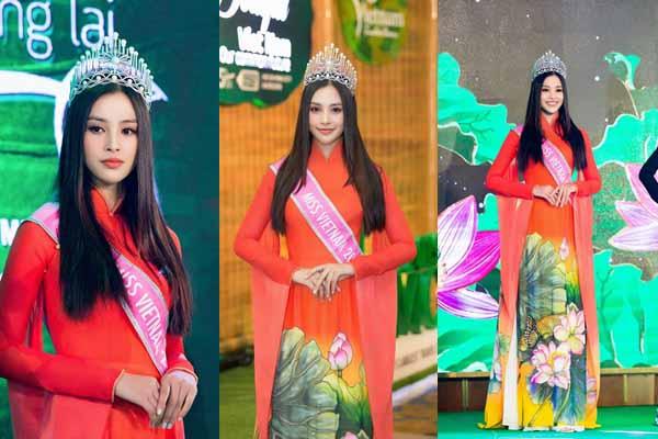Hoa hậu Tiểu Vy mắt sưng húp lộ diện sau khi ông qua đời