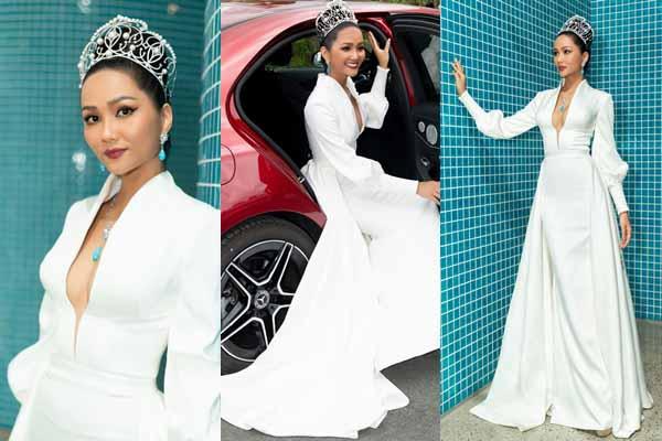 Toàn cảnh trang phục giúp H'Hen Niê nổi bật khi làm 'host' Hoa hậu Hoàn vũ Việt Nam 2019
