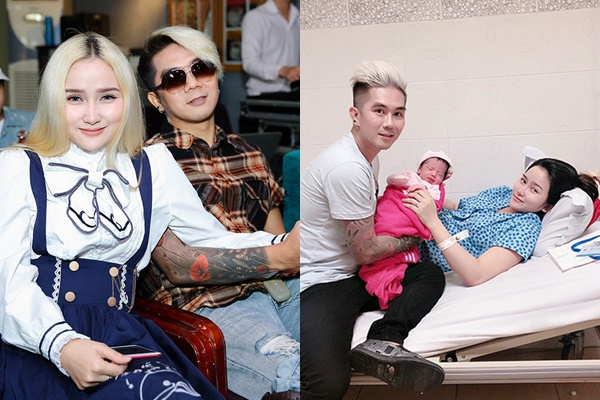 Khánh Đơn rớt nước mắt khi vợ hot girl sinh con gái
