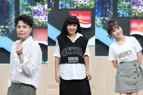 Phương Thanh mặc chất chơi so kè tài nấu nướng với Trịnh Thăng Bình, Hari Won