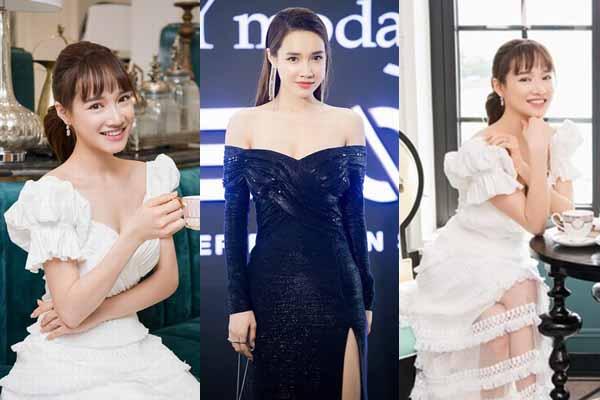 Nhã Phương gây nao lòng khi diện váy trắng thưởng thức trà