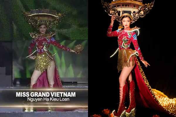 """Nhan sắc Việt """"hụt điểm"""" vì trang phục dân tộc bị hỏng ở Miss Grand 2019"""