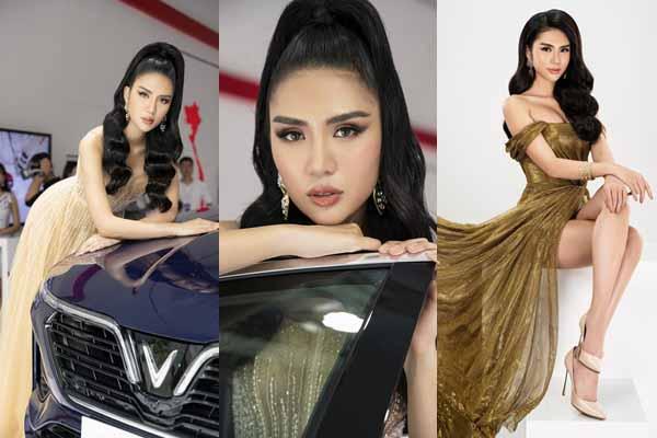 Yến Phạm khoe nhan sắc rực rỡ tại Việt Nam Motor Show 2019