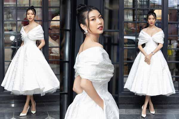 Thúy Vân chịu khó chạy show dù đang thi Hoa hậu Hoàn vũ 2019