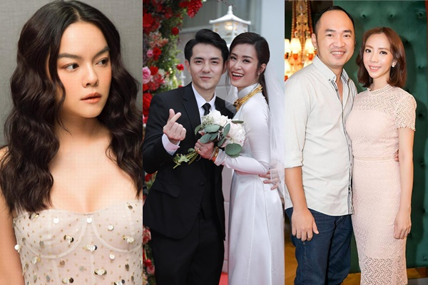 Tiến Luật - Thu Trang tươi rói, Phạm Quỳnh Anh thất lạc đồ khi dự đám cưới Đông Nhi