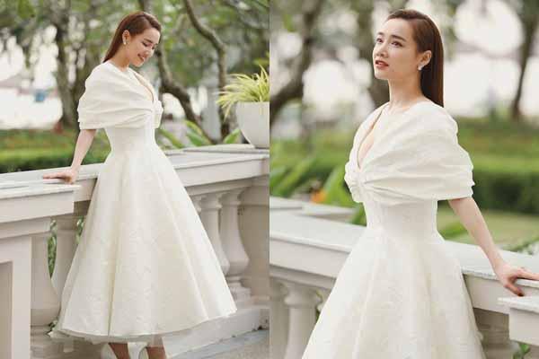 Nhã Phương xuất hiện tuyệt đẹp tại đám cưới Đông Nhi, Ông Cao Thắng