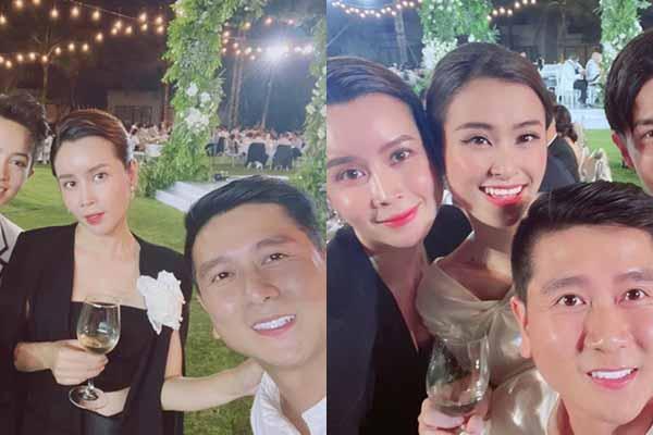Lưu Hương Giang hành động bất ngờ với Hồ Hoài Anh ở đám cưới Đông Nhi