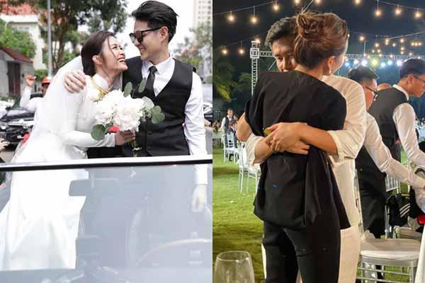 Lộ ảnh Hồ Hoài Anh nghẹn ngào ôm Lưu Hương Giang trong tiệc cưới Đông Nhi