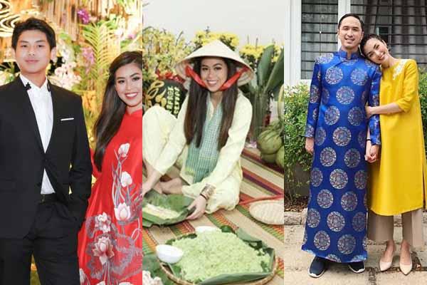 Độc quyền: Không khí gói bánh chưng, biệt thự đầy hoa Tết của nhà chồng Tăng Thanh Hà