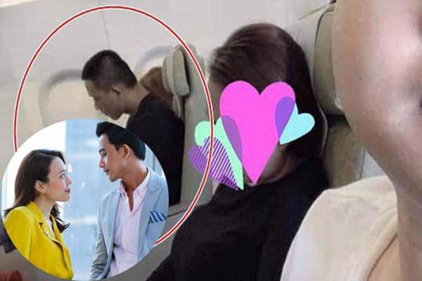 Mỹ Tâm lộ ảnh nắm tay Mai Tài Phến trên máy bay?
