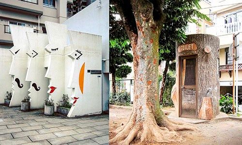 Muôn kiểu nhà vệ sinh công cộng 'siêu độc' ở Nhật Bản