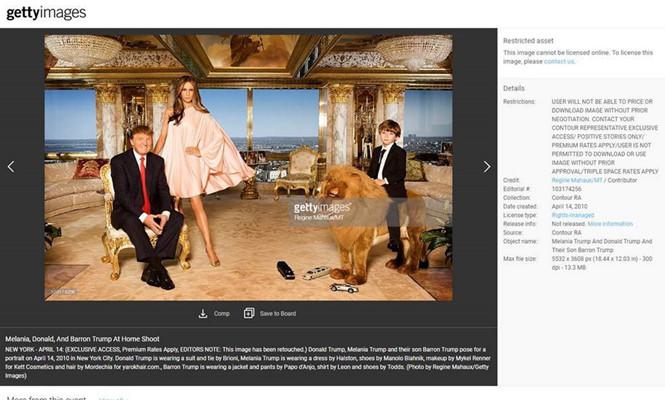 Đệ nhất phu nhân Mỹ Melania Trump kiếm bạc tỉ từ ảnh gia đình