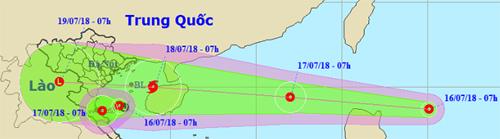 Gần bờ biển miền Trung xuất hiện áp thấp nhiệt đới
