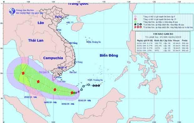Bão số 1 ngày càng mạnh thêm, ảnh hưởng tới Tây Nam Bộ