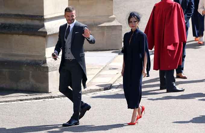 Vợ chồng nhà Becks thần thái đỉnh cao tại đám cưới Hoàng tử Harry