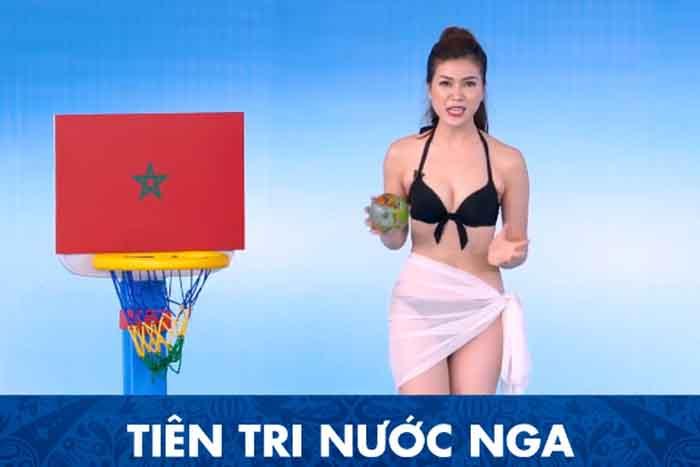 Một kênh truyền hình ở Việt Nam đưa MC mặc bikini dẫn World Cup