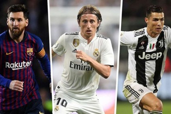 Tiền vệ Luka Modric vượt Ronaldo, Messi giành Quả bóng Vàng 2018