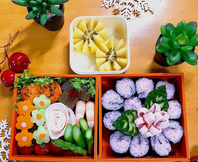 Những bữa ăn rực rỡ sắc hoa của vợ Việt trên đất Nhật