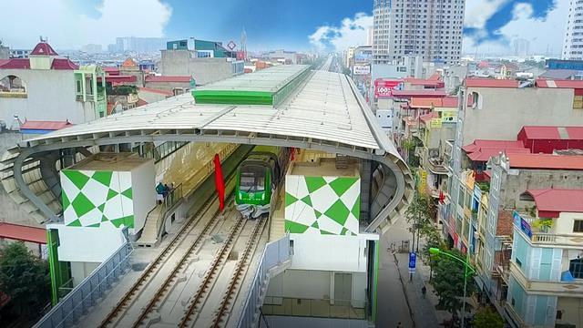 Tháng 8, chạy thử tuyến đường sắt trên cao Cát Linh – Hà Đông