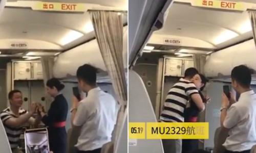 Được bạn trai cầu hôn trên máy bay và cái kết bất ngờ của nữ tiếp viên