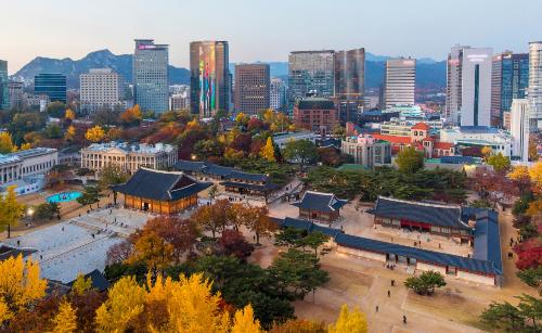 Cùng ngắm con đường lá đỏ tuyệt đẹp ở Seoul