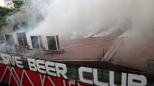 Cháy lớn tại Club rộng 1.000 m2 ở trung tâm Hải Phòng