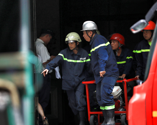 Trung tâm thương mại Sài Gòn bị cháy