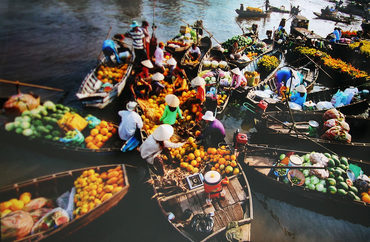 Những bức ảnh đẹp nhất về chợ nổi ở Tây Nam Bộ