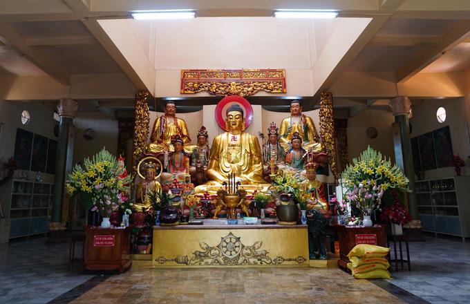 Bức tượng Bồ Đề Đạt Ma làm từ tóc của hàng nghìn Phật tử.