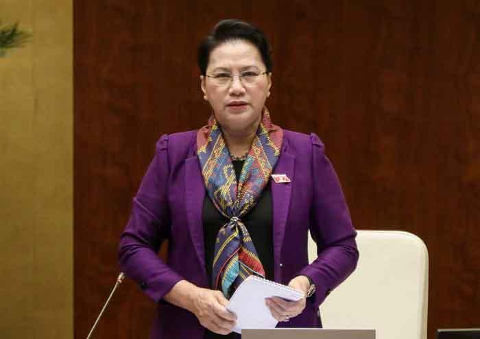 Thay mặt Quốc hội, Chủ tịch Quốc hội Nguyễn Thị Kim Ngân kêu gọi người dân bình tĩnh