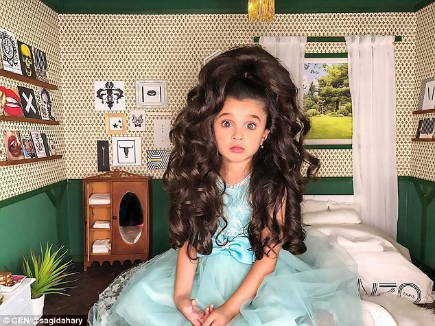 Cô bé 5 tuổi với mái tóc đẹp tuyệt vời