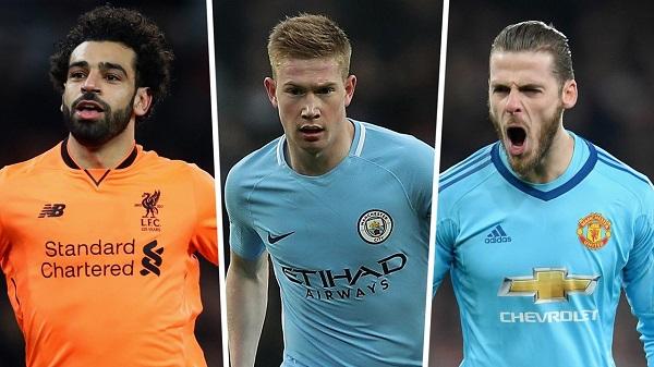 De Gea cạnh tranh danh hiệu hay nhất Premier League với Salah, Bruyne