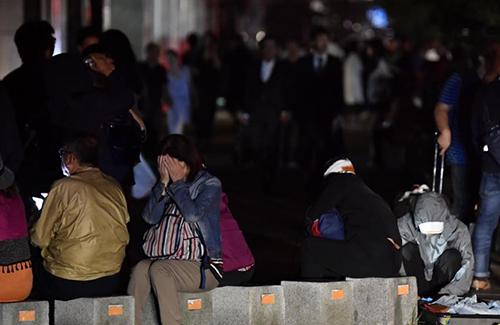 Nhiều ngôi nhà ở Nhật Bản đã bị chôn vùi vì động đất