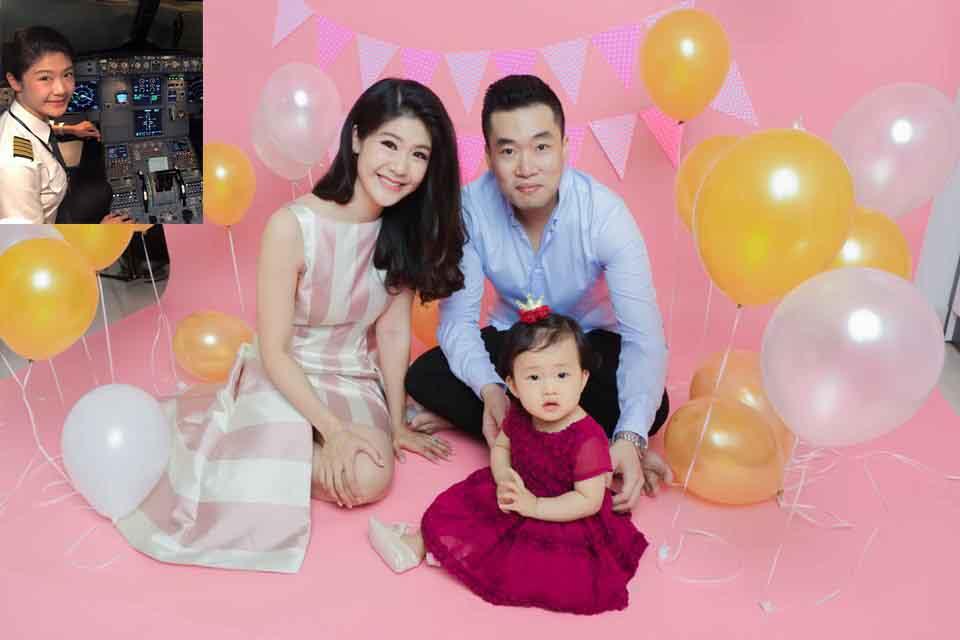 Nữ cơ trưởng Huỳnh Lý Đông Phương bất ngờ khoe ảnh con gái cùng ông xã