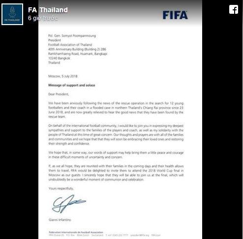 Đội bóng nhí Thái Lan được FIFA mời tới xem chung kết World Cup 2018