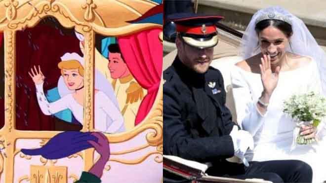 """Những khoảnh khắc đám cưới hoàng gia Anh giống hệt trong phim """"Lọ Lem"""" của Disney"""