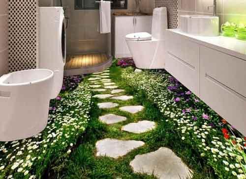 Ngỡ ngàng với những nhà tắm 3D y như thật