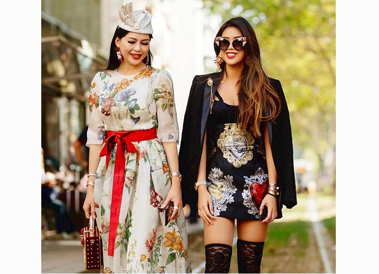 Thủy Tiên và con gái diện hàng hiệu xuất hiện tại Milan