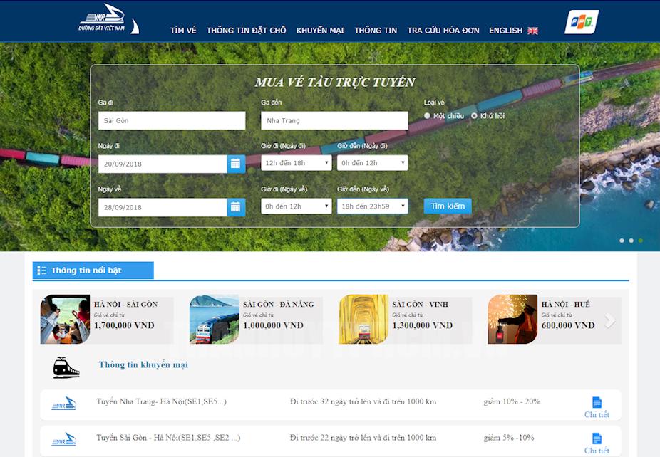 Thêm lựa chọn mua vé online cho khách đi tàu lửa trong nước