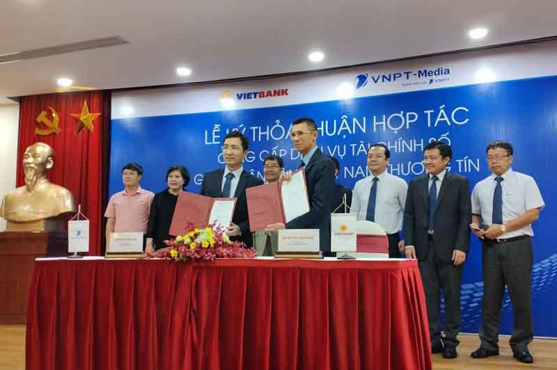 Vietbank và VNPT- Media ký kết thỏa thuận hợp tác cung cấp dịch vụ tài chính số